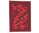 RugStudio presents MAT The Basics Nule Red Hand-Knotted, Good Quality Area Rug
