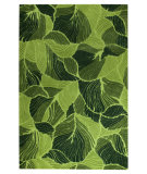 RugStudio presents MAT Orange Milano Oasis Green Hand-Tufted, Good Quality Area Rug