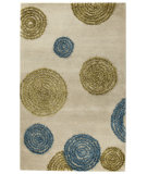 RugStudio presents MAT Orange Vivant Odyssey Sage Hand-Tufted, Good Quality Area Rug