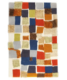 RugStudio presents MAT Orange Vivant Patch Multi Hand-Tufted, Good Quality Area Rug