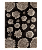 RugStudio presents MAT Orange Roca Pebbles Grey/Black Hand-Tufted, Good Quality Area Rug