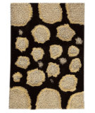 RugStudio presents MAT Orange Roca Pebbles White/Brown Woven Area Rug