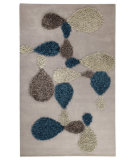 RugStudio presents MAT Orange Vivant Portola Grey/Blue Hand-Tufted, Good Quality Area Rug