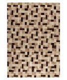RugStudio presents Mat Vintage Puzzle Beige Hand-Tufted, Good Quality Area Rug
