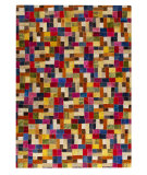 RugStudio presents Mat Vintage Puzzle Multi Hand-Tufted, Good Quality Area Rug