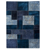 RugStudio presents MAT Vintage Renaissance Blue Hand-Knotted, Good Quality Area Rug