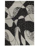 RugStudio presents MAT Orange Nova Riddle Black/White Woven Area Rug