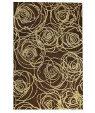 RugStudio presents MAT Orange Milano Rosa Brown Woven Area Rug