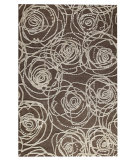 RugStudio presents MAT Orange Milano Rosa Grey Woven Area Rug