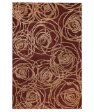 RugStudio presents MAT Orange Milano Rosa Red Hand-Tufted, Good Quality Area Rug