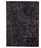 RugStudio presents MAT Vintage Sarangi Black Hand-Tufted, Good Quality Area Rug