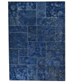 RugStudio presents MAT Vintage Sarangi Blue Hand-Tufted, Good Quality Area Rug