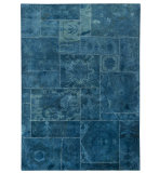 RugStudio presents MAT Vintage Sarangi Turquoise Hand-Tufted, Good Quality Area Rug