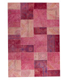 RugStudio presents Mat Vintage Sartaj Light Pink Hand-Tufted, Good Quality Area Rug