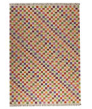 RugStudio presents Mat The Basics Small Box Antique White/Multi Woven Area Rug