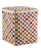 RugStudio presents MAT Poufs Small Box White / Multi Woven