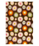RugStudio presents MAT Orange Nova Sombrero Chocolate/Multi Hand-Tufted, Good Quality Area Rug