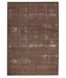 RugStudio presents Mat Orange Subtle Squares Brown Woven Area Rug