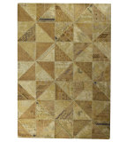 RugStudio presents MAT Vintage Tile Beige Hand-Tufted, Good Quality Area Rug