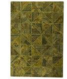 RugStudio presents MAT Vintage Tile Green Hand-Tufted, Good Quality Area Rug