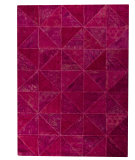 RugStudio presents MAT Vintage Tile Pink Hand-Tufted, Good Quality Area Rug