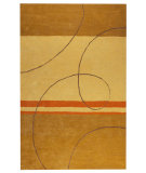 RugStudio presents MAT Orange Catena Trenza Gold Hand-Tufted, Good Quality Area Rug