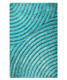 RugStudio presents MAT Orange Roca Tweed Aqua Hand-Tufted, Good Quality Area Rug