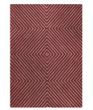 RugStudio presents MAT Orange Catena Union Square Mauve Hand-Tufted, Good Quality Area Rug