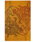 RugStudio presents MAT Orange Milano Vines Orange Hand-Tufted, Good Quality Area Rug