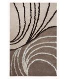 RugStudio presents MAT Orange Vivant Waves Beige/Brown Hand-Tufted, Good Quality Area Rug