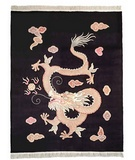 RugStudio presents MER Woven Legend 214-320 Black Dragon Hand-Knotted, Better Quality Area Rug