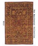 RugStudio presents MER Manchester 8213 Classic Tabriz Burgundy Hand-Tufted, Best Quality Area Rug