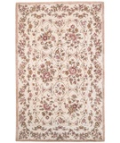 RugStudio presents Rugstudio Sample Sale 18882R Cream Floral Hand-Tufted, Better Quality Area Rug