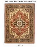 RugStudio presents MER New Meridian 9378 Mahal Red-Navy Hand-Tufted, Better Quality Area Rug