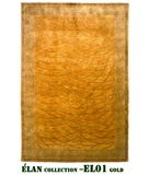 RugStudio presents MER Elan EL01 Gold Hand-Knotted, Better Quality Area Rug
