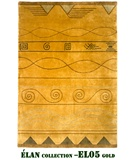 RugStudio presents MER Elan EL05 Gold Hand-Knotted, Better Quality Area Rug