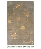 RugStudio presents MER Enchantment EN04 Sage Green Hand-Tufted, Better Quality Area Rug