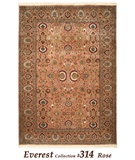 RugStudio presents MER Everest 314 Rose Tabriz Hand-Knotted, Best Quality Area Rug