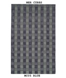 RugStudio presents MER Cubes MC05 Blue Machine Woven, Better Quality Area Rug
