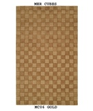 RugStudio presents MER Cubes MC06 Gold Machine Woven, Better Quality Area Rug