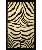 RugStudio presents Mohawk Home New Wave Zebra Safari Black Machine Woven, Good Quality Area Rug