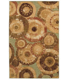 RugStudio presents Mohawk Home Woodgrain Arranged Medallions Tan Machine Woven, Good Quality Area Rug
