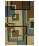 RugStudio presents Mohawk Home Connexus Overlapping Squares Blue Machine Woven, Good Quality Area Rug