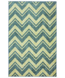 RugStudio presents Mohawk Home Strata Lascala Chevron Stripe Blue Machine Woven, Good Quality Area Rug