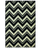 RugStudio presents Mohawk Home Strata Lascala Chevorn Stripe Black/White Machine Woven, Good Quality Area Rug
