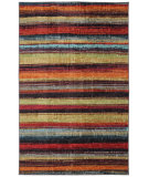 RugStudio presents Mohawk Home Strata Caravan Stripe Multi Machine Woven, Good Quality Area Rug