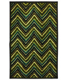 RugStudio presents Mohawk Home Strata Zig Zag Stripe Teal Machine Woven, Good Quality Area Rug