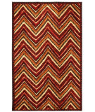 RugStudio presents Mohawk Home Strata Zig Zag Stripe Orange Machine Woven, Good Quality Area Rug