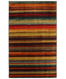 RugStudio presents Mohawk Home New Wave Boho Stripe Print Multi Machine Woven, Good Quality Area Rug