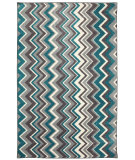 RugStudio presents Mohawk Home New Wave Ziggidy Teal Machine Woven, Good Quality Area Rug